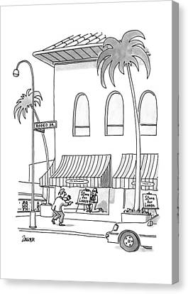 New Yorker November 23rd, 1992 Canvas Print by Jack Ziegler