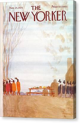 New Yorker November 25th, 1974 Canvas Print by James Stevenson