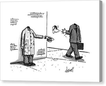 New Yorker November 25th, 1996 Canvas Print by Tom Chene