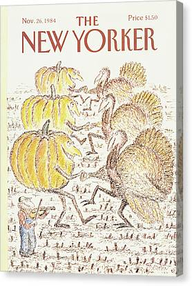 1984 Canvas Print - New Yorker November 26th, 1984 by Edward Koren