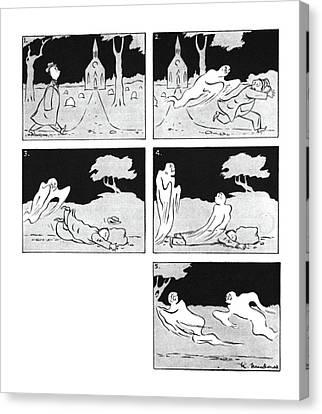 New Yorker November 27th, 1943 Canvas Print by Roberta Macdonald