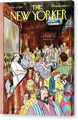 New Yorker November 27th, 1971 Canvas Print