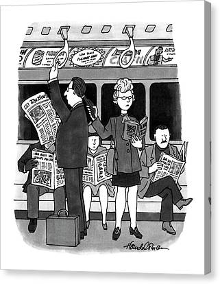 Ponytail Canvas Print - New Yorker November 28th, 1994 by J.B. Handelsman