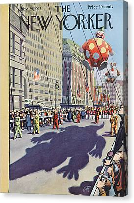 New Yorker November 29th, 1952 Canvas Print