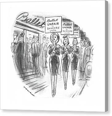 New Yorker November 30th, 1940 Canvas Print by Leonard Dove