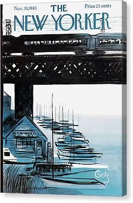 New Yorker November 30th, 1963 Canvas Print by Arthur Getz