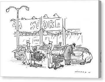 New Yorker November 30th, 1998 Canvas Print by Bill Woodma