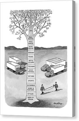 New Yorker November 30th, 1998 Canvas Print