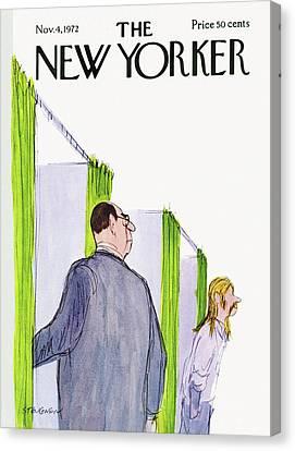New Yorker November 4th, 1972 Canvas Print by James Stevenson