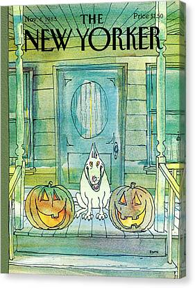 Porch Canvas Print - New Yorker November 4th, 1985 by George Booth