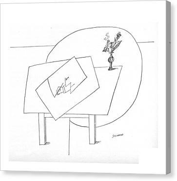 New Yorker November 5th, 1966 Canvas Print by Saul Steinberg