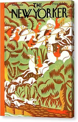 New Yorker November 7th, 1931 Canvas Print by Margaret Schloeman