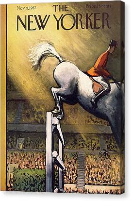 New Yorker November 9th, 1957 Canvas Print