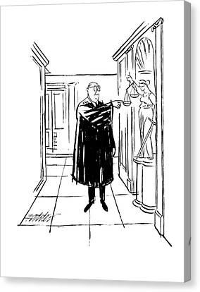 New Yorker November 9th, 1963 Canvas Print by Mischa Richter