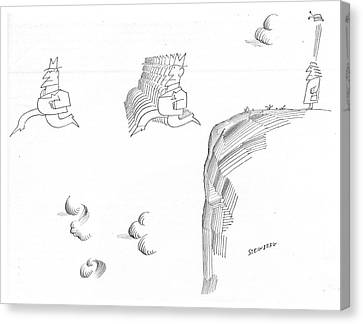 New Yorker November 9th, 1968 Canvas Print by Saul Steinberg