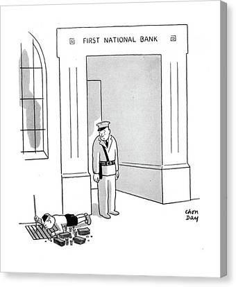Grate Canvas Print - New Yorker October 11th, 1941 by Chon Day