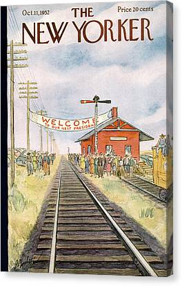 New Yorker October 11th, 1952 Canvas Print