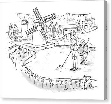 Don Quixote Canvas Print - New Yorker October 11th, 1993 by Bill Woodman