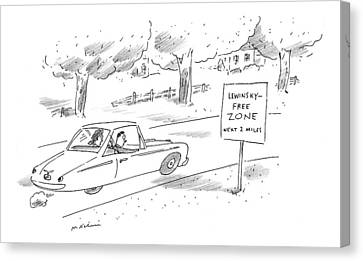 Free Canvas Print - New Yorker October 12th, 1998 by Michael Maslin