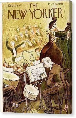 Symphony Hall Canvas Print - New Yorker October 13th, 1945 by Julian de Miskey