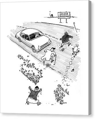 New Yorker October 13th, 1997 Canvas Print by George Booth