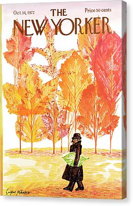 Trenches Canvas Print - New Yorker October 14th, 1972 by Eugene Mihaesco