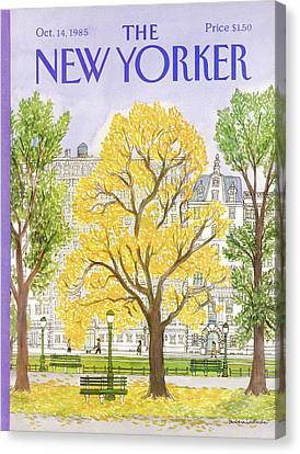 New Yorker October 14th, 1985 Canvas Print