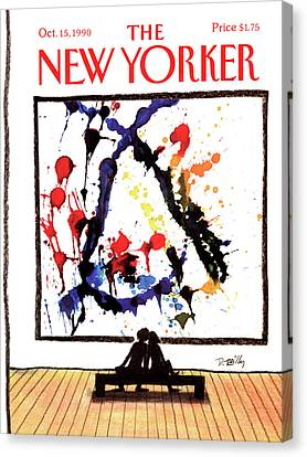 New Yorker October 15th, 1990 Canvas Print by Donald Reilly