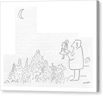 New Yorker October 17th, 1953 Canvas Print by Saul Steinberg