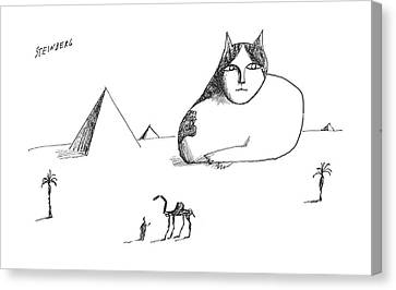 New Yorker October 17th, 1964 Canvas Print by Saul Steinberg