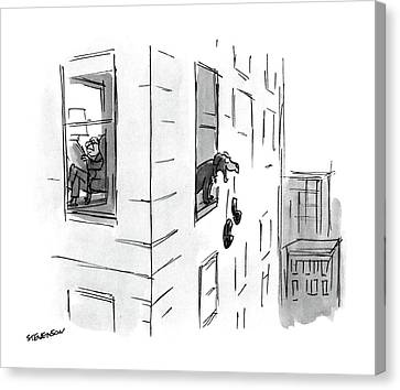 New Yorker October 17th, 1988 Canvas Print by James Stevenson