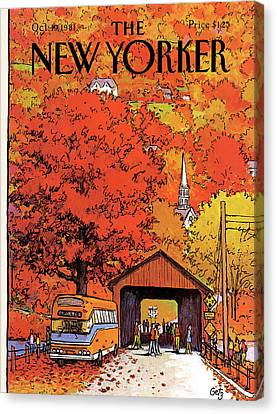 New Yorker October 19th, 1981 Canvas Print by Arthur Getz