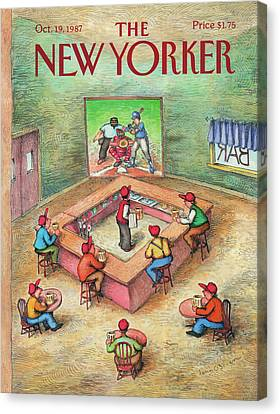 New Yorker October 19th, 1987 Canvas Print by John O'Brien
