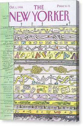 New Yorker October 1st, 1990 Canvas Print by Roz Chast
