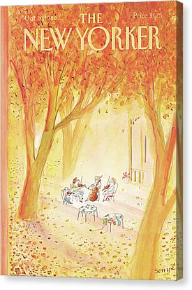 Classical Music Canvas Print - New Yorker October 20th, 1980 by Jean-Jacques Sempe