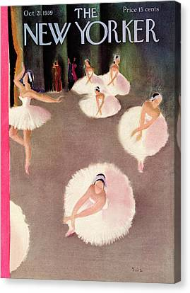 New Yorker October 21st, 1939 Canvas Print by Susanne Suba