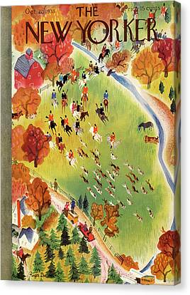 New Yorker October 22nd, 1938 Canvas Print by Roger Duvoisin