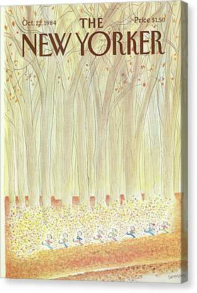1984 Canvas Print - New Yorker October 22nd, 1984 by Jean-Jacques Sempe