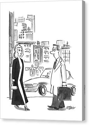 New Yorker October 23rd, 1995 Canvas Print by Peter Steiner