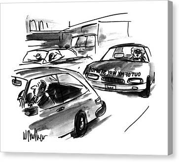 Backward Canvas Print - New Yorker October 23rd, 1995 by Warren Miller