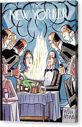 Grill Canvas Print - New Yorker October 24th, 1942 by Peter Arno