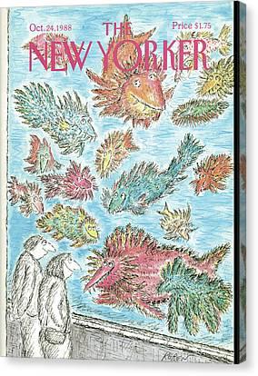New Yorker October 24th, 1988 Canvas Print by Edward Koren