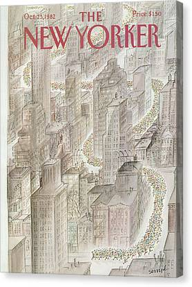 New Yorker October 25th, 1982 Canvas Print by Jean-Jacques Sempe