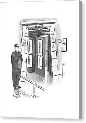 Entrance Canvas Print - New Yorker October 26th, 1940 by Louis Jamme