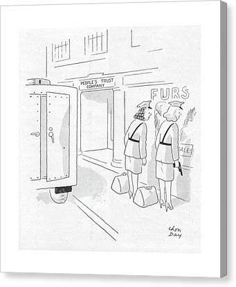 New Yorker October 28th, 1944 Canvas Print by Chon Day
