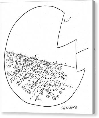 New Yorker October 29th, 1955 Canvas Print by Saul Steinberg
