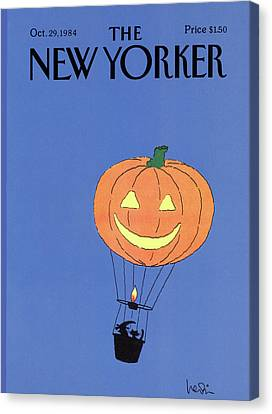 1984 Canvas Print - New Yorker October 29th, 1984 by Arnie Levin