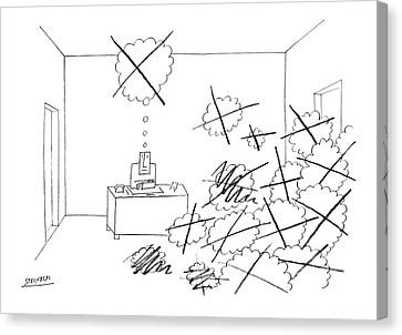 Empty Canvas Print - New Yorker October 4th, 1969 by Saul Steinberg
