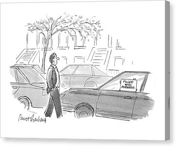 Asbestos Canvas Print - New Yorker October 4th, 1993 by Mort Gerberg