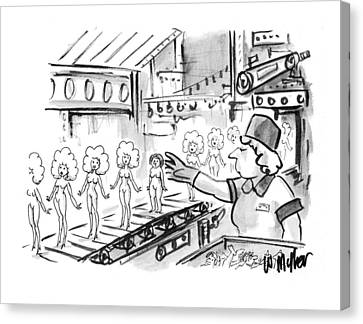 New Yorker October 4th, 1993 Canvas Print by Warren Miller